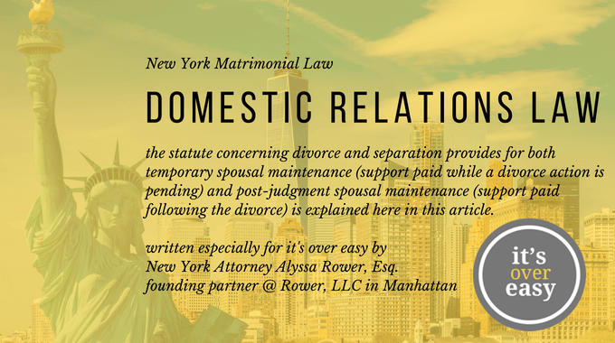 Domestic Relations Law by Alyssa Rower, Esq (1)