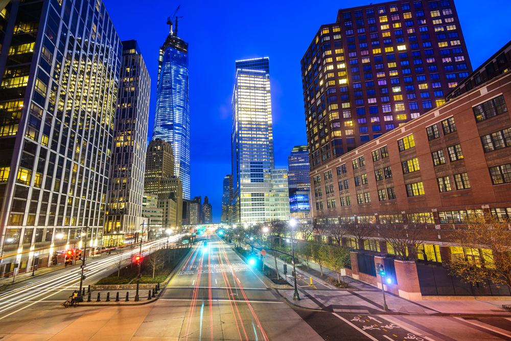 New York City cityscape in Lower Manhattan.