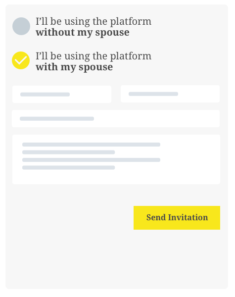 Step 2 invite spouse